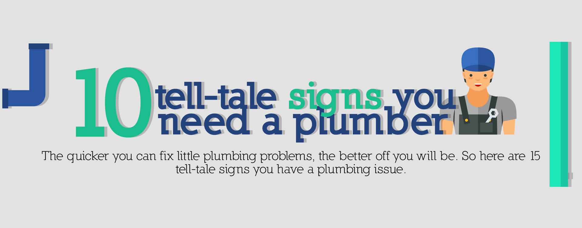 10 tell tale signs you need a plumber banner