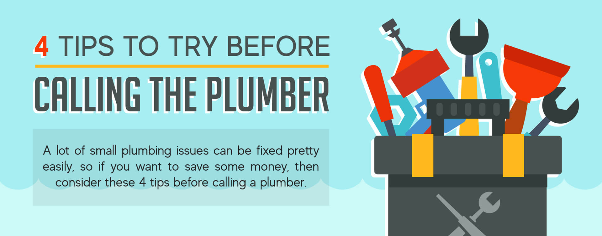 4 tips to try before calling the plumber banner