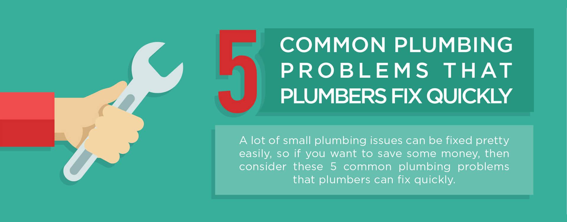 5 common plumbing problems banner