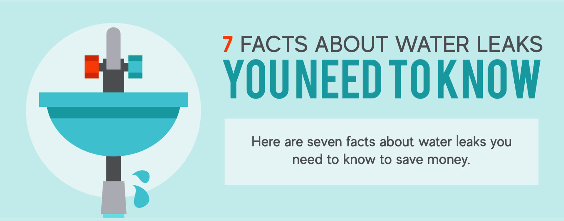 7 facts about water leaks you need to know banner